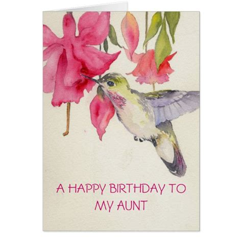 happy birthday aunt printable cards a happy birthday to my aunt card zazzle com
