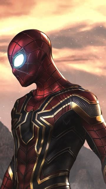 wallpaper spider man iron spider armour marvel comics