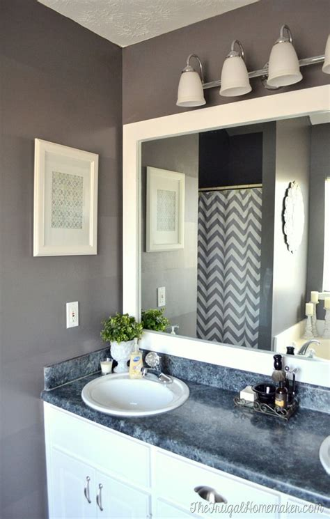 how to add a frame to a bathroom mirror best 25 frame bathroom mirrors ideas on pinterest