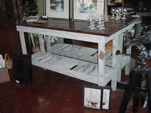 Bar Buffet Table 5 Distressed Oak Top Wine Bar Buffet Table Just