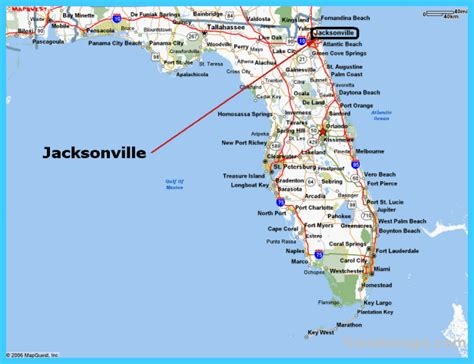 map of jacksonville map of jacksonville florida travelsmaps