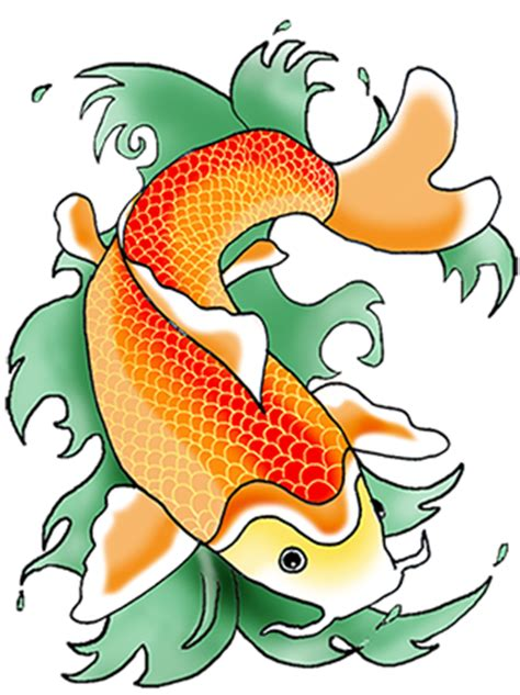 colorful koi fish drawings