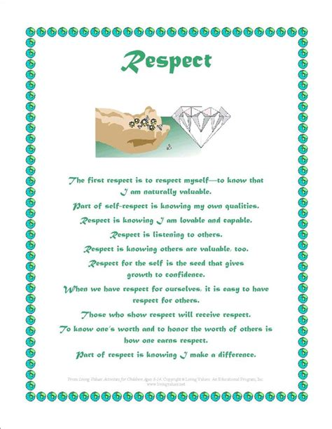 printable respect quotes quotes about respect and tolerance quotesgram