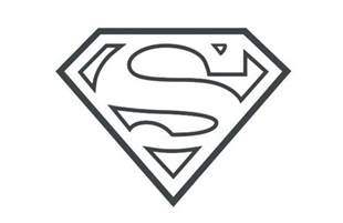 superman symbol outline google search clip art and templates pinterest