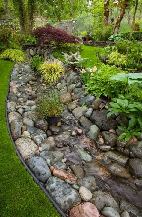 diy river bed how to create your own creek beds for your gardens top craft ideas