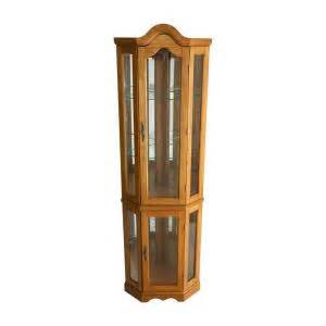 Display Cabinets Home Depot Southern Enterprises Lighted Corner Curio Cabinet In