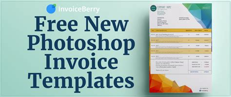 free new photoshop invoice templates invoiceberry blog