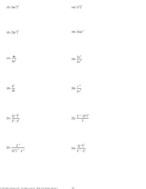 patterns worksheet kuta worksheets multiplication properties of exponents
