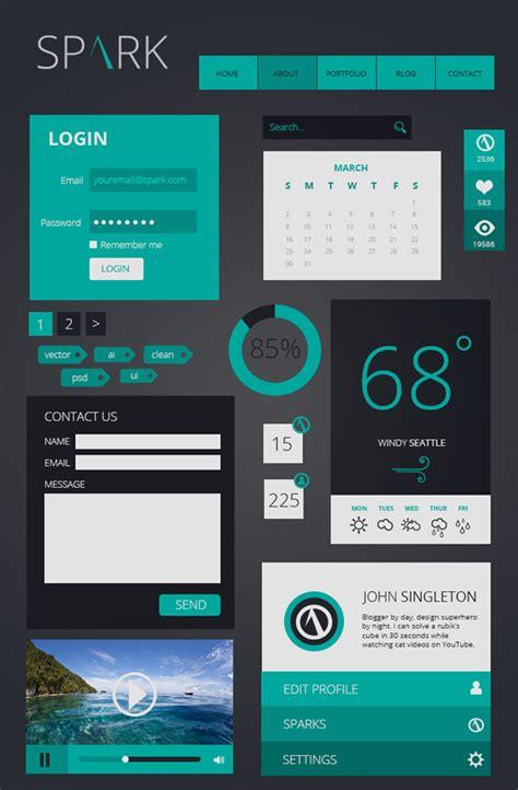 Web Layout Ui Kit | psd flat ui kits free download design graphic design