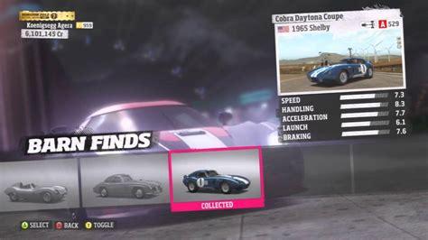 Barn Finds Forza Horizon Cars forza horizon all 9 barn find cars