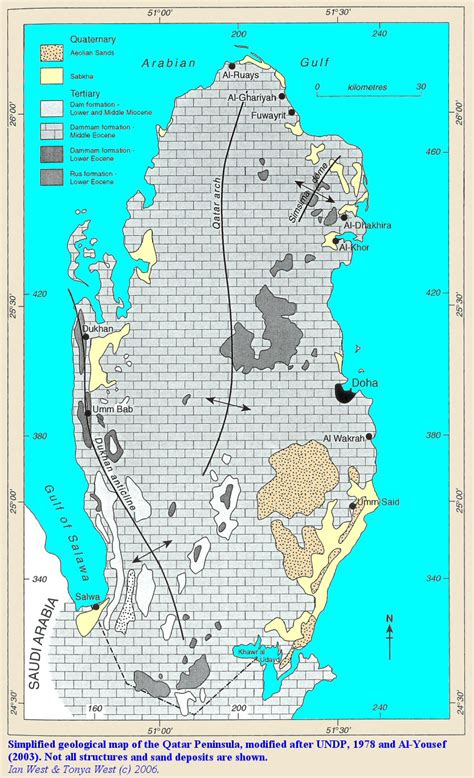qatar geology sabkhas evaporites  desert environments