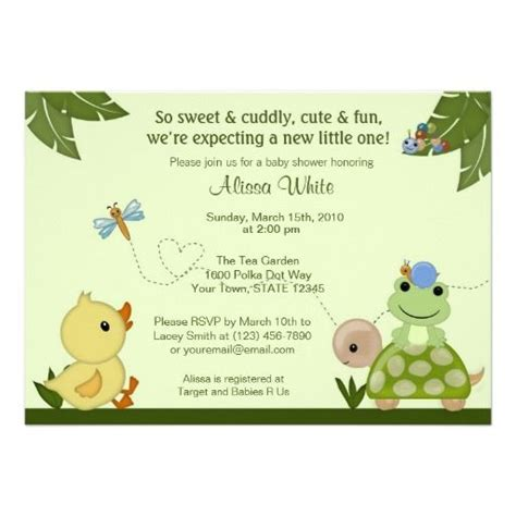Frog Baby Shower Invitations by In The Pond Baby Shower Invitation Duck Frog Shower