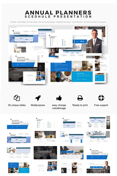 Powerpoint Templates Annual Planner Presentation 2018 Powerpoint Template 64155 Presentation Template Powerpoint