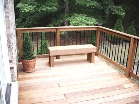 deck railing with bench seating 10 best deck railings images on pinterest decks