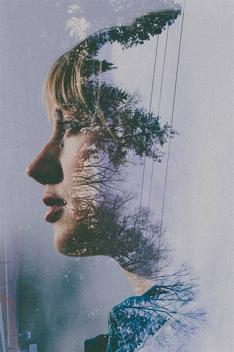 Designspiration Nature | double exposure portraits by sara k byrne colossal