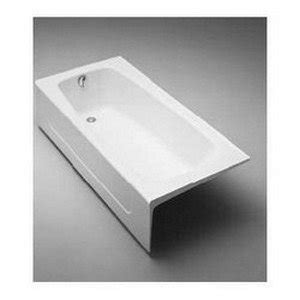 toto cast iron bathtub toto fby1715lp 01 cast iron bathtub with apron and left hand drain