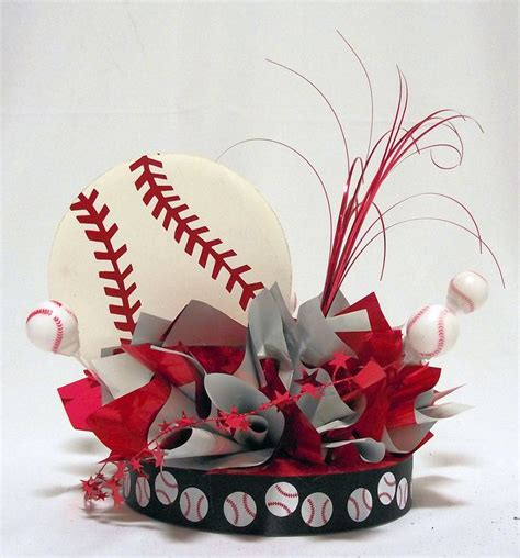 25 best ideas about baseball centerpiece on
