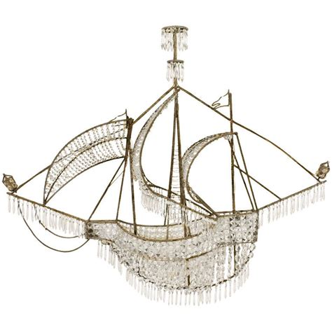 Ship Chandelier Glass Pearl Caravel Ship Chandelier At 1stdibs