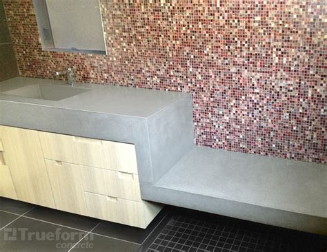 Precast Fireplace Surrounds - sink and floating shower bench trueform decor