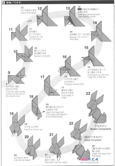 Rabbit Origami Easy - free coloring pages origami bunny rabbit easy origami