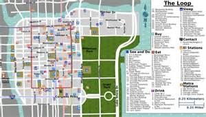 Chicago Map Pdf by Downtown Chicago Map Pdf