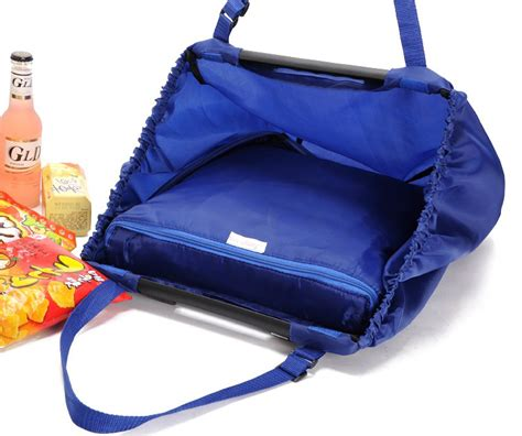 Tas Belanja Lipat Trolley Shopping Bag Blue Tas Belanja Lipat Trolley Shopping Bag Blue