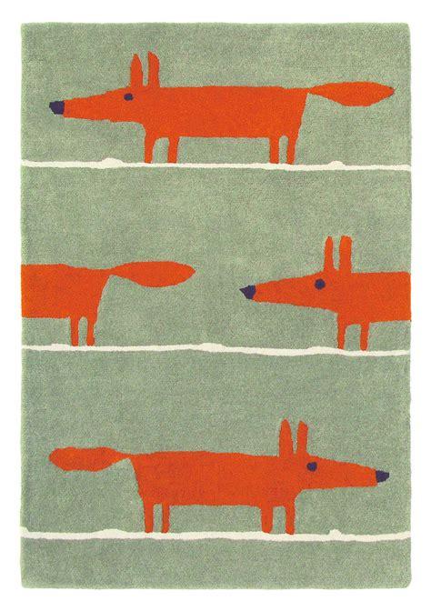 mr rugs mr fox rug by scion cinnamon wallpaper direct