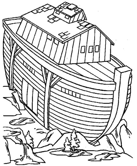 noah building the ark coloring page coloring pages