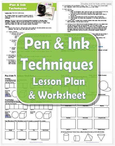 doodle lesson plan pen ink techniques lesson plan worksheet create