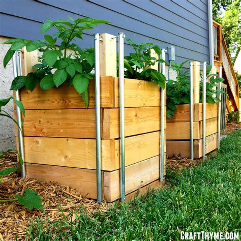 potato planter box how to build potato boxes craft thyme
