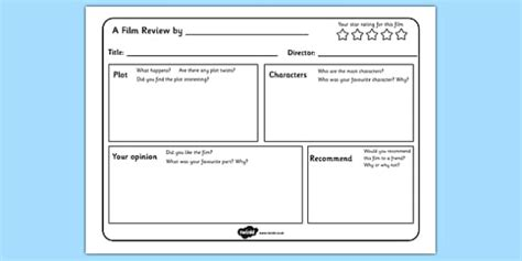 film review writing template templates write reviews