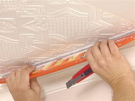 how to hang wallpaper on a ceiling how tos diy how to apply an embossed wallpaper ceiling treatment how