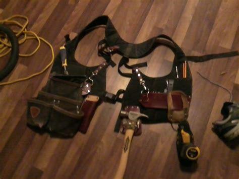 tool belt setup trim carpenters tool belt set up tools equipment
