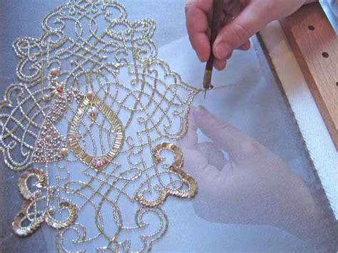 beading on fabric tutorial grace designs tambour beading