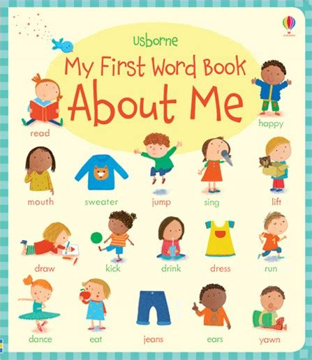 words and your books my word book about me at usborne children s books