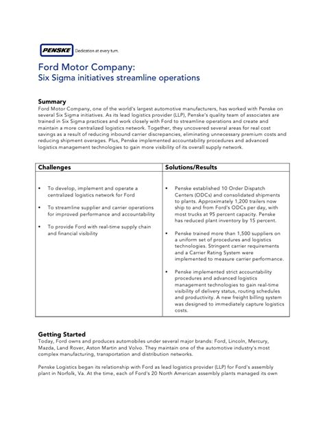 ford motor company research paper free ford motor company essays and papers autos post