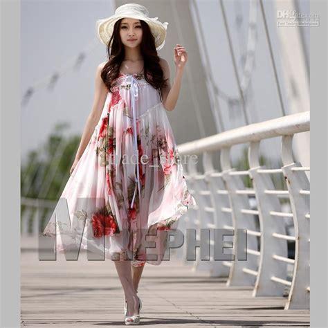 closet dress floral pattern romantic style women s size uk hot fashion ladies maxi dress boho bohemian chiffon dress