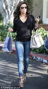 camel toe hair cuts eva longoria in sweater and skinny jeans after hollywood