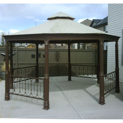 replacement awnings for gazebos metal gazebos costco octagon gazebo canopy replacement