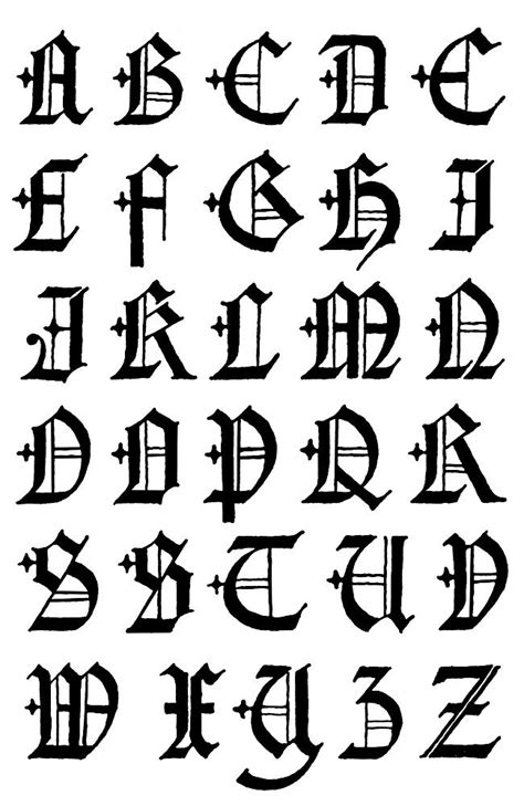 gothic letters   lettering styles graffiti font