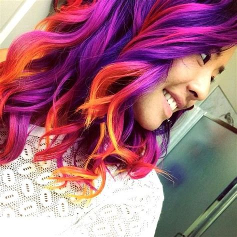 sunset hair color inspiration from yipnotiq idea to a