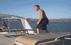 falling out of boat funny boat running gif find share on giphy