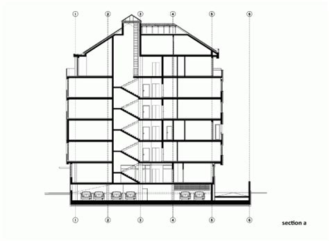 residential building section residential building in vase stajića street kuzmanov and