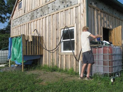 outdoor solar shower solar outdoor shower freeville ny earthship