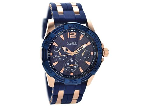 Guess Gs0281 Rosegold guess w0366g4 oasis gold plated blue silicon