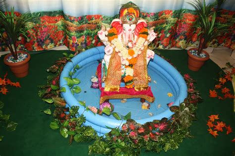 decoration for ganesh festival at home festival dhamaal ganapati decoration at home