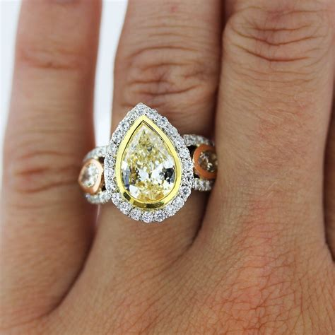 Pear Shaped Engagement Ring by Pear Shaped Yellow Engagement Rings Wedding And