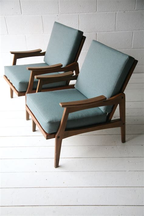 1950s Armchairs by Pair Of 1950s Armchairs And Chrome