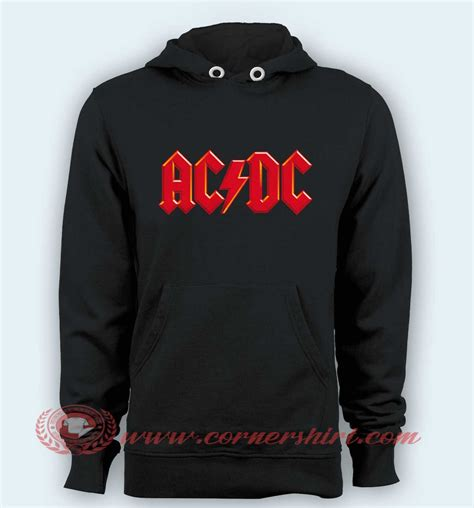 Hoodie Sweater Acdc Black Terlaris hoodie pullover black acdc logo cornershirt