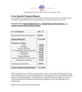 Post Event Report Template 11 financial report templates free sample example